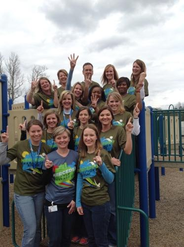 OMES Students and Teachers Participate in Mercedes Marathon